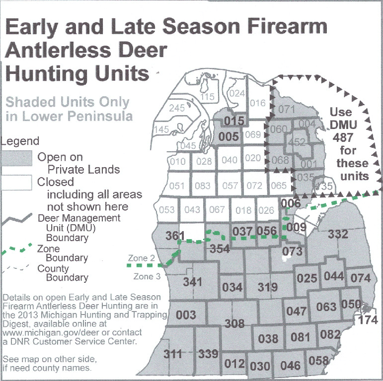 Deer hunting season schedule for michigan ohio quality for Michigan out of state fishing license